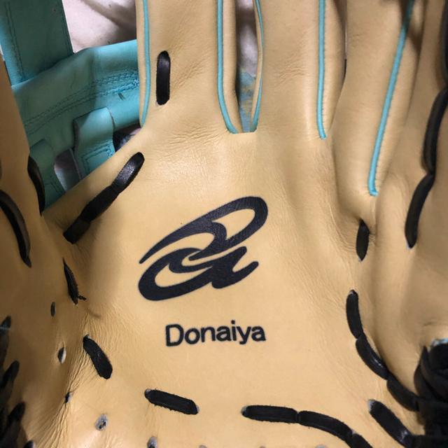 ドナイヤ軟式グローブ守備猿モデル。新品未使用。型付け済み。 スポーツ/アウトドアの野球(グローブ)の商品写真