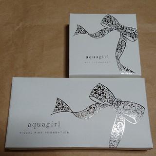 アクアガールコスメティクス(aquagirl cosmetics)の【新品】ビジュアルファインファンデーション アクアガール ナチュラリーピンク(ファンデーション)