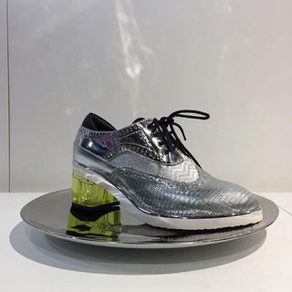 ステュディオス(STUDIOUS)のUNITED NUDE クリアヒールレースアップシューズ(ローファー/革靴)