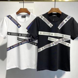 DSQUARED2 - DSQUARED2 Tシャツ ディースクエアード 丸襟 DT444
