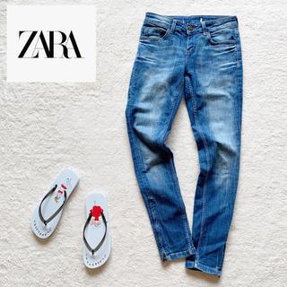ZARA - 『ZARA』スキニー ストレッチ 裾チャック デニム/ジーンズ EUR36 M
