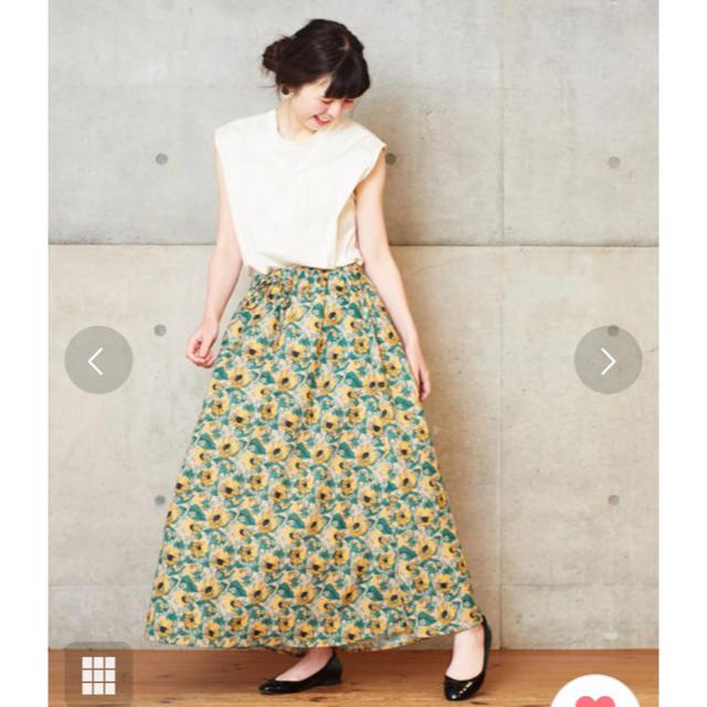 Dot&Stripes CHILDWOMAN(ドットアンドストライプスチャイルドウーマン)の最終値下 ドットアンドストライプス ひまわりプリントスカート レディースのスカート(ロングスカート)の商品写真