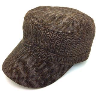 リー(Lee)の新品 Lee リー ワークキャップ キャップ 帽子 ヘリンボーン ブラウン(キャップ)