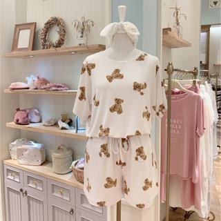 gelato pique - 期間限定タイムセール中❗残り僅か☆ベアモチーフTシャツ&ショートパンツ ミント