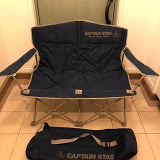 キャプテンスタッグ(CAPTAIN STAG)の美品 キャプテンスタッグ 折り畳み 2人がけ チェア(テーブル/チェア)