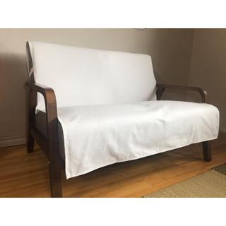 ベーシックソファカバー 横幅100×長さ150cm アイリッシュ:オフホワイト(ソファカバー)