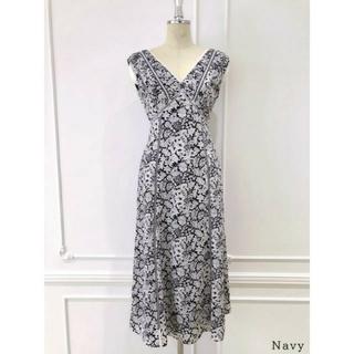 snidel - Lace Trimmed Floral Dress herlipto