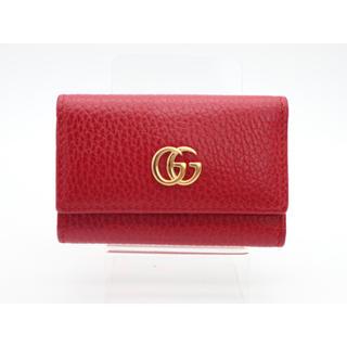 グッチ(Gucci)の《GUCCI/プチマーモント 6連キーケース Aランク》456118 赤 極美(キーケース)