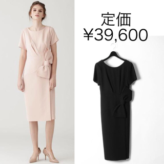 GRACE CONTINENTAL - タグ付き新品 GRACE CLASS 定価3.9万円 リボン切替ドレープワンピ
