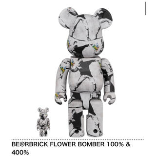 MEDICOM TOY - BE@RBRICK FLOWER BOMBER 100% 400% バンクシー