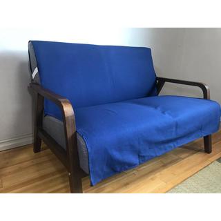 ベーシックソファカバー 横幅100×長さ150cm アイリッシュ:ダークブルー(ソファカバー)