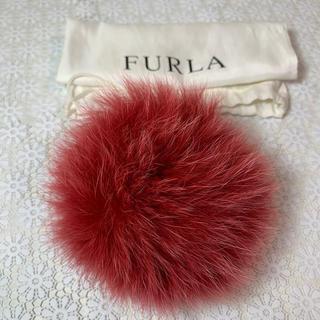 Furla - 極美品■ FURLA フルラ ファー リング ポンポン キーホルダー チャーム