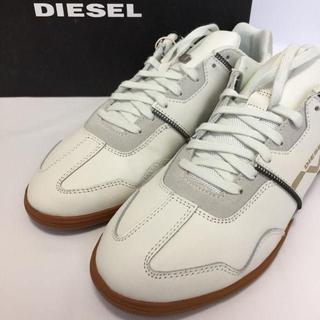 ディーゼル(DIESEL)の新品 DIESEL ディーゼル レザー スニーカー 白 メンズ(スニーカー)