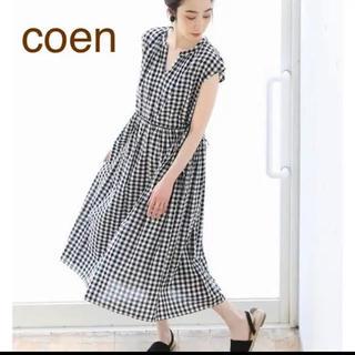 coen - coen【美品】ウエストギャザーリボンワンピース