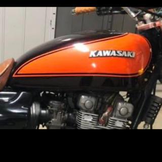 カワサキ - ゼファー400 タンクとタンクカバーセット 火の玉