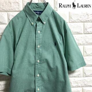 ラルフローレン(Ralph Lauren)の*ラルフローレン*半袖チェックシャツ*Mサイズ相当*(シャツ)