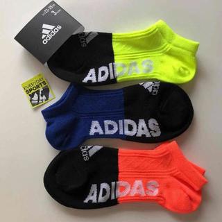 アディダス(adidas)のadidas アディダス   ショートソックス  23〜25cm3足(靴下/タイツ)