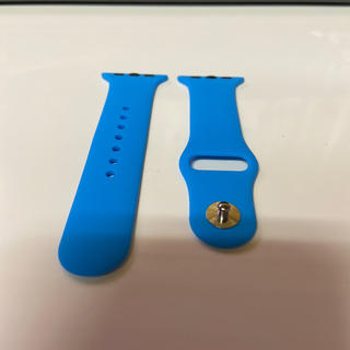 アップルウォッチ(Apple Watch)のラバーベルト:Apple Watch(38‐40㎜、水色)(腕時計)