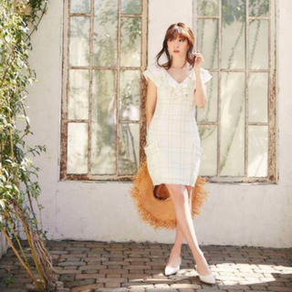 snidel - Her lip to Summer Tweed Dress サマーツイードドレス