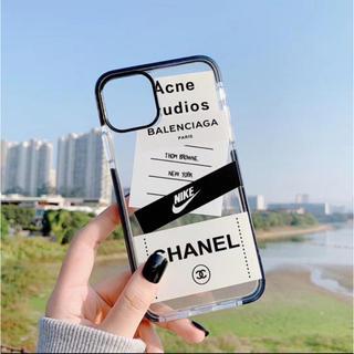 iPhone - 【T】iPhone11 ブランドロゴ ステッカー ケース オシャレ