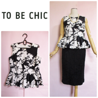 TO BE CHIC - 【TO BE CHIC/トゥービーシック】花柄ノースリーブブラウス☆ペプラム☆4