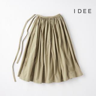 イデー(IDEE)のIDEE   POOL いろいろの服 巻きギャザーエプロン  オリーブ(ロングスカート)