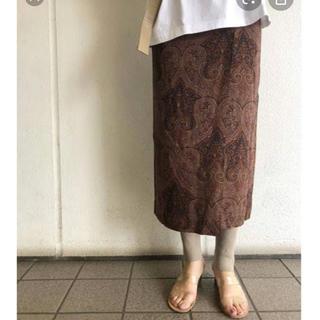 TODAYFUL - TODAYFUL ペーズリーWラップスカート サイズ38