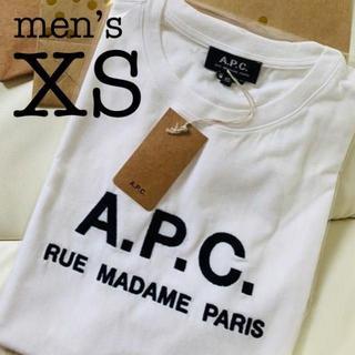 【当日発送】刺繍ロゴTシャツ アーペーセーAPC a.p.c. メンズXS