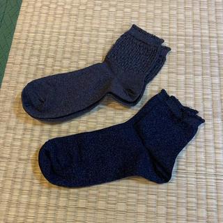 ユニクロ(UNIQLO)のユニクロ 靴下 ソックス 2足セット GU 無印良品 靴下屋 チュチュアンナ(ソックス)