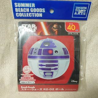 タカラトミー(Takara Tomy)のタカラトミー ビーチボール スターウォーズ R2-D2 うきわ 未使用(マリン/スイミング)