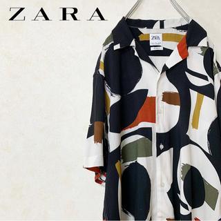 ZARA - オープンカラーシャツ ZARA ザラ レーヨン クレイジーパターン