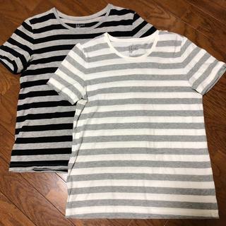 MUJI (無印良品) - 無印良品 ボーダーTシャツ L2枚