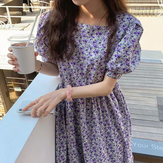 ZARA - ♡ purple Flower one-piece ♡