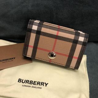 BURBERRY - 新品 バーバリー 三つ折り財布 ヴィンテージチェック