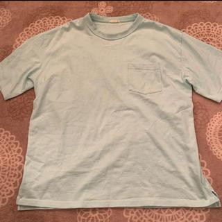 GU - GU Tシャツ 水色 XL ヘビーウェイト ポケT ポケット