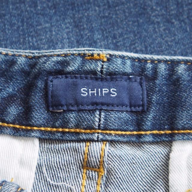 SHIPS for women(シップスフォーウィメン)の未使用 SHIPS for women ベイカーデニムワイドパンツ★シップス レディースのパンツ(デニム/ジーンズ)の商品写真