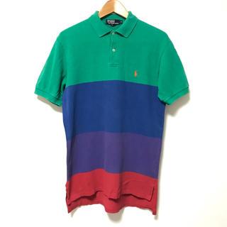ポロラルフローレン(POLO RALPH LAUREN)のポロラルフローレン  カラーグラデーション鹿の子半袖ポロシャツM 大きめ(ポロシャツ)