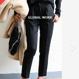 GLOBAL WORK - グローバルワーク ラクノビCOOLトラウザー  テーパードパンツ ネイビー L