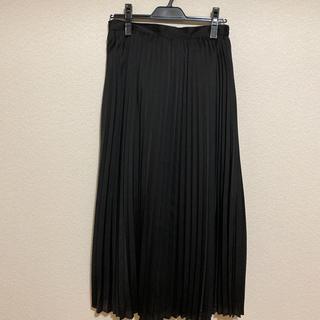 GU - プリーツロングスカートNC  黒 XLサイズ