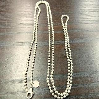 Tiffany & Co. - TIFFANY ティファニー シルバー925 ボールチェーン ロング ネックレス