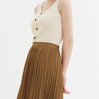 GU - プリーツミディスカート XLサイズ