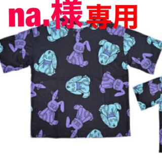 エーシーディーシーラグ(ACDC RAG)のPバニードールTシャツ   ブラック/パープル/ブルー(Tシャツ(半袖/袖なし))