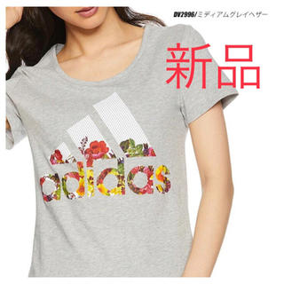 adidas - 新品 adidas Tシャツ 半袖 花柄 アディダス レディース