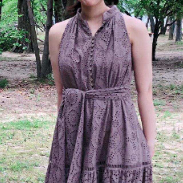 snidel(スナイデル)の明日まで!herlipto Lace-trimmed Belted Dress レディースのワンピース(ロングワンピース/マキシワンピース)の商品写真