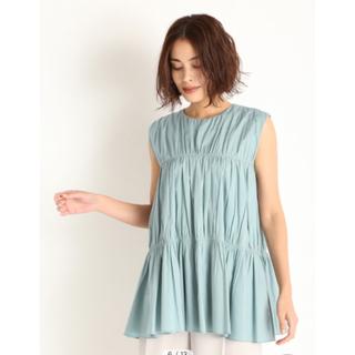 ミラオーウェン(Mila Owen)のバックリボンデザインティアードトップス(シャツ/ブラウス(半袖/袖なし))