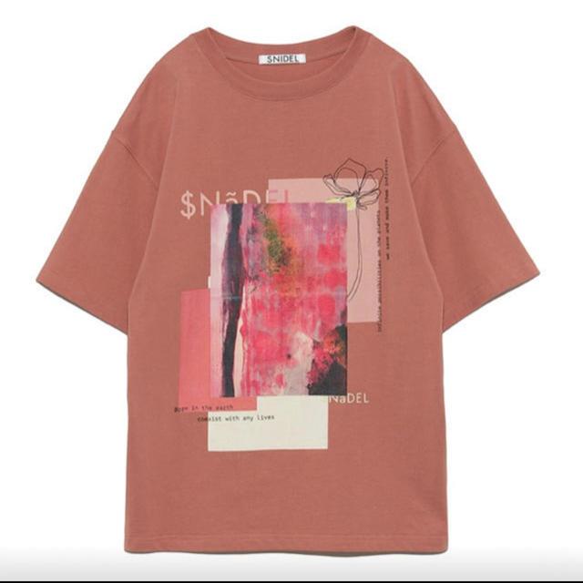 snidel(スナイデル)の【完売品】SNIDEL*デザインロゴTシャツ❤︎ レディースのトップス(Tシャツ(半袖/袖なし))の商品写真