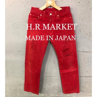 ハリウッドランチマーケット(HOLLYWOOD RANCH MARKET)のH.R MARKET ダメージ加工!カラーパンツ!日本製!(その他)