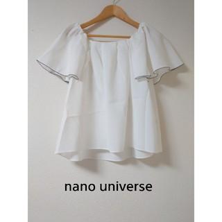ナノユニバース(nano・universe)の美品!ノースリーブブラウス(シャツ/ブラウス(半袖/袖なし))
