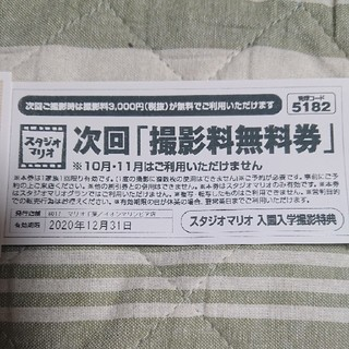 カメラのキタムラ スタジオマリオ 撮影無料券(その他)