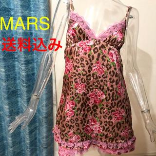 マーズ(MA*RS)のMARS☆マーズ☆レオパード☆ローズ☆ヒョウ柄☆薔薇☆キャミワンピ☆(ミニワンピース)